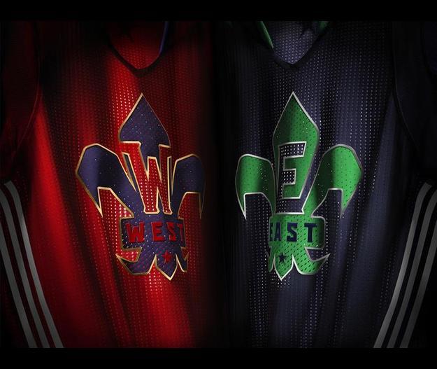 camisetas NBA All-Star 2014 adidas mangas