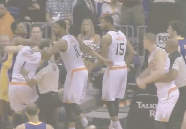 pelea Suns Lakers