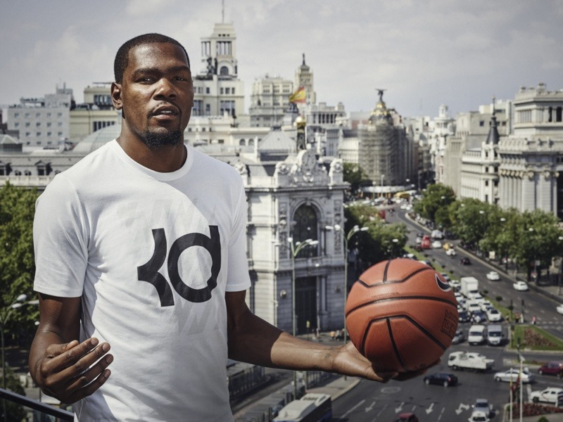 Kevin Durant en Madrid nbamaniacs
