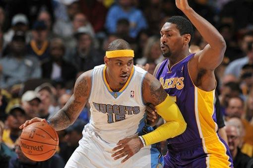 Carmelo Anthony estuvo muy bien ante Lakers