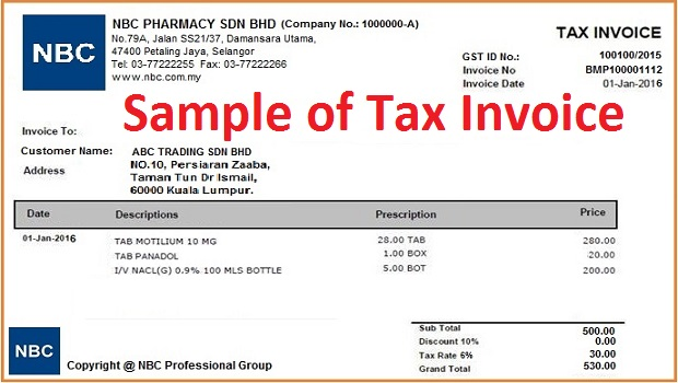 What is Tax Invoice? How to issue Tax Invoice? - Goods \ Services - australian invoice template