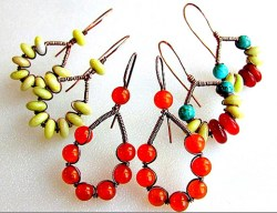 Wire Jewelry Tutorial - Make Wire Wrap Earrings with Beads
