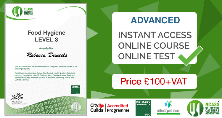 Food Hygiene Courses Online - Level 1,2,3 NCASS Training