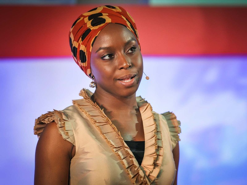 Chimamanda Adichie speaking at TEDGlobal event in 2009.