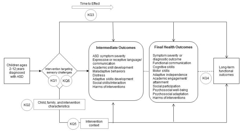 Figure 1, Analytic framework for review - Interventions Targeting