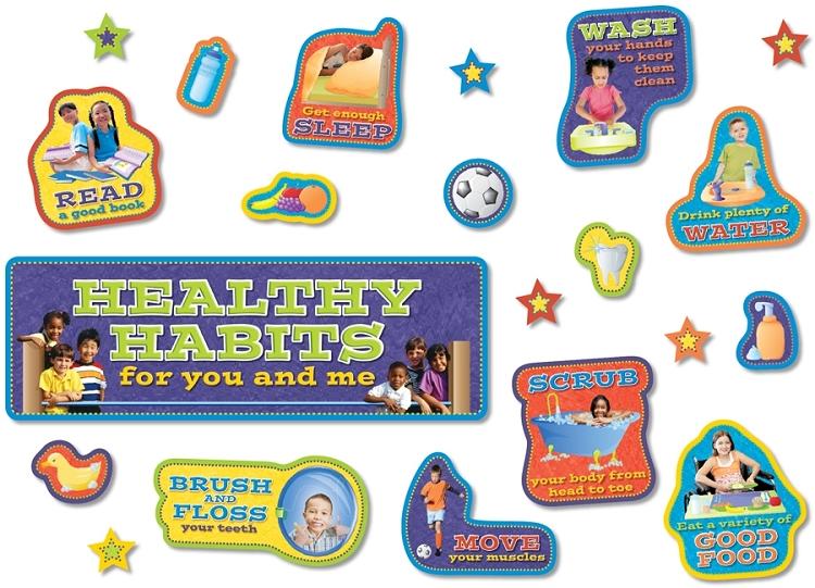 Healthy Habits Bulletin Board Set