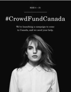 Everlane Crowdfund Canada