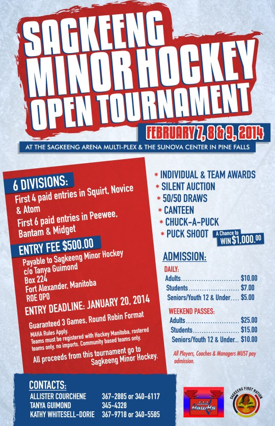 Sagkeeng Minor Hockey Poster_11x17 PRINT
