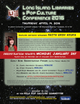Long Island Libraries and Pop Culture Conference, April 14