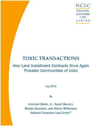 Toxic Transactions How Land Installment Contracts Once Again - installment sales contract