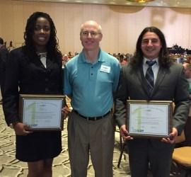 (L-R) Katrice Walker, Chapter President Michael Shingledecker, David Gitlin