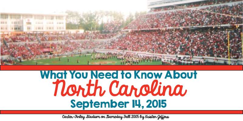 What You Need to Know About North Carolina for September 14, 2015