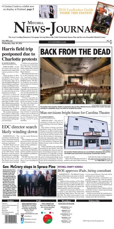 Mitchell News-Journal | North Carolina Press Association