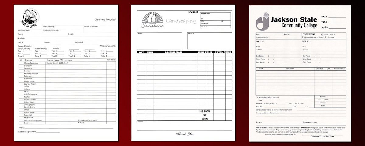 2 Part Invoices Carbonless Invoice Forms