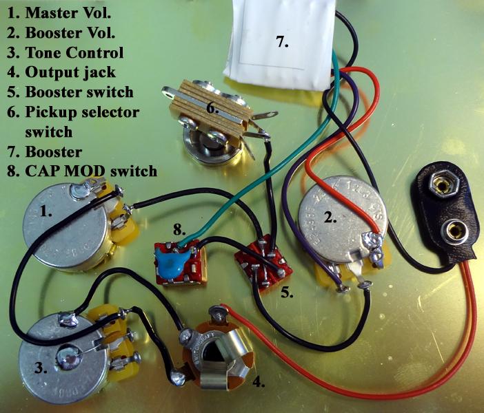 4 Moser Booster/preamp CAP MOD Wiring