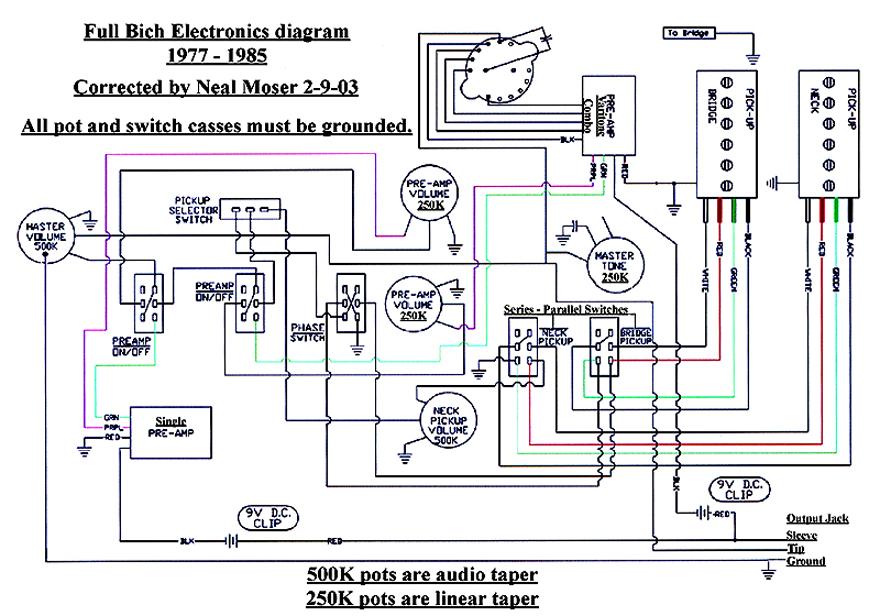 dean b guitar wiring diagram