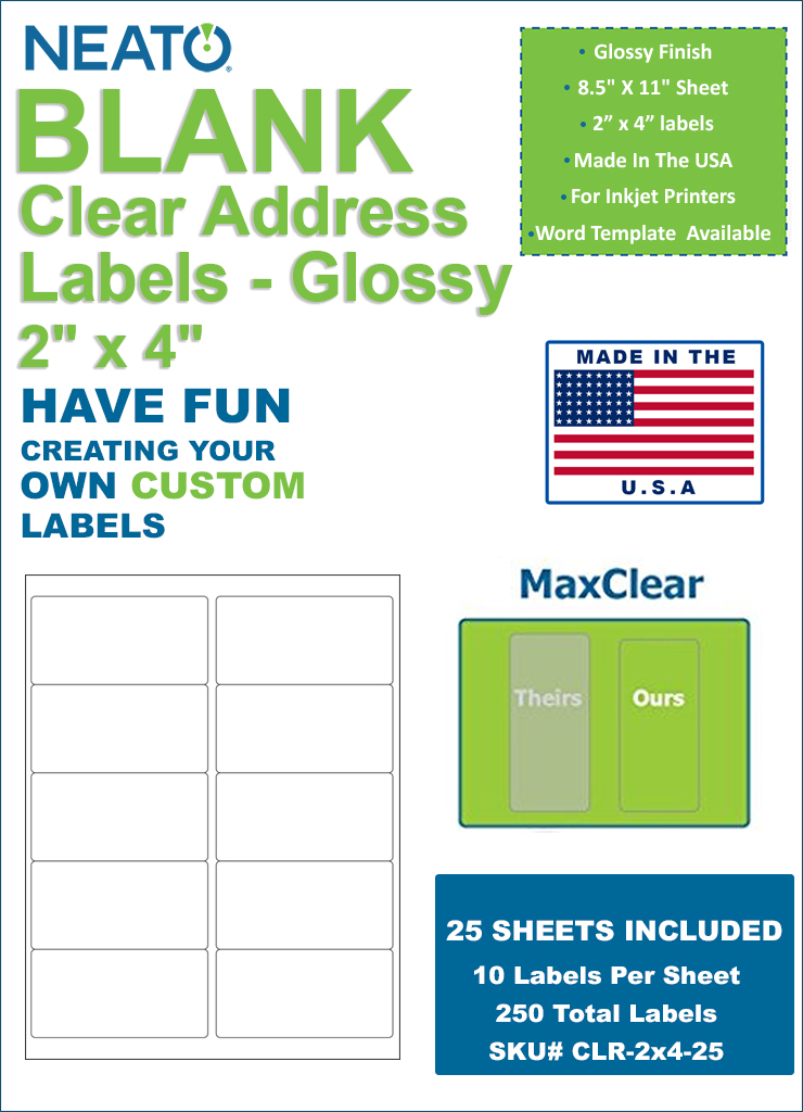 NEATO Clear Address Labels, 2\