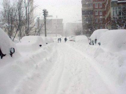 Er kan veel sneeuw vallen in Erzurum