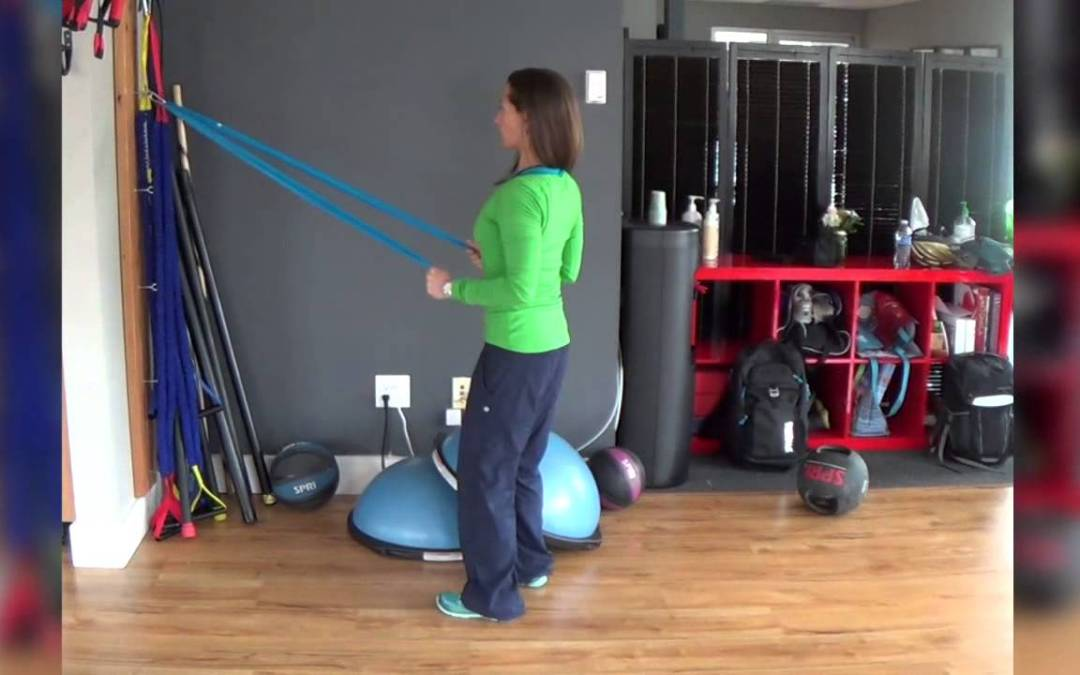 NeeBooFit Video – Standing Alternating Tricep Extensions with Flat Therapy Bands