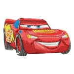 Lightning McQueen Embroidery Design