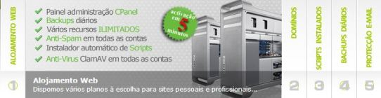 Alojamento Web Sites