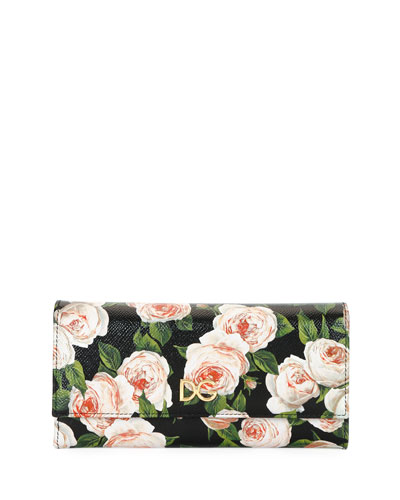 Leather Continental Flap Wallet Neiman Marcus