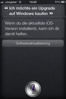 Nach dem Upgrade hilft Siri auch mit dem Upgrade