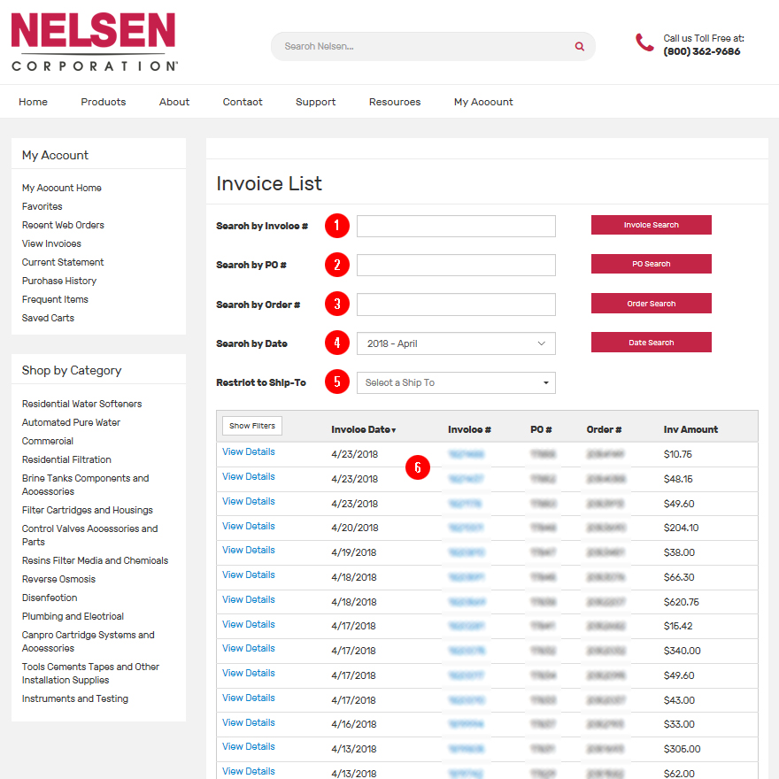 View Invoices Help Page Nelsen Corporation