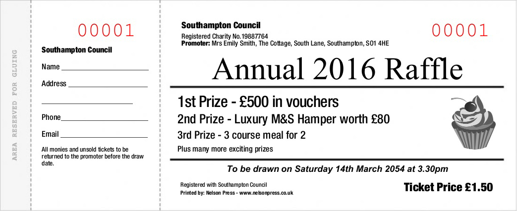 Raffle Ticket Printers - Online Order - Nelson Press - prize voucher template