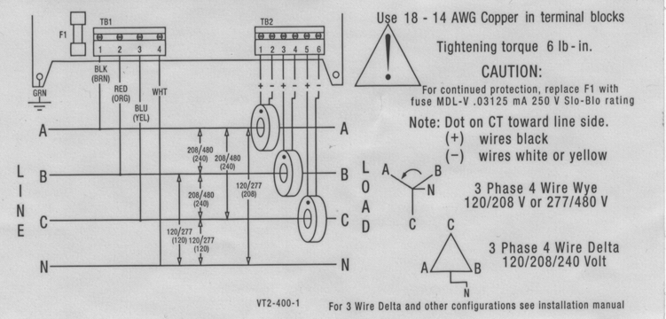 3 phase 4 wire electronic meter diagram
