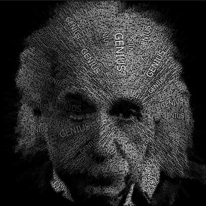 I Love Myself Quotes Wallpapers Einstein Word Portraits