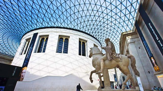 Great white ... the Great Court in the British Museum is made from white Portland stone.