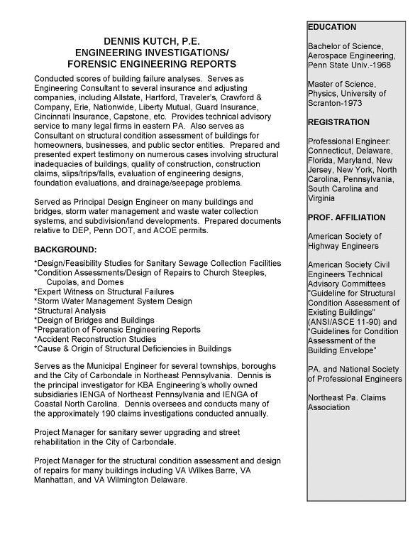 Principal Resumes - I-ENG-A of Northeast PA
