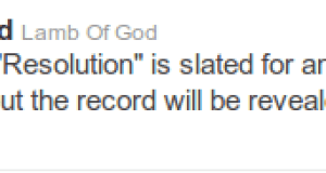"Lamb of god sets new album name ""Resolution"" for 2012"