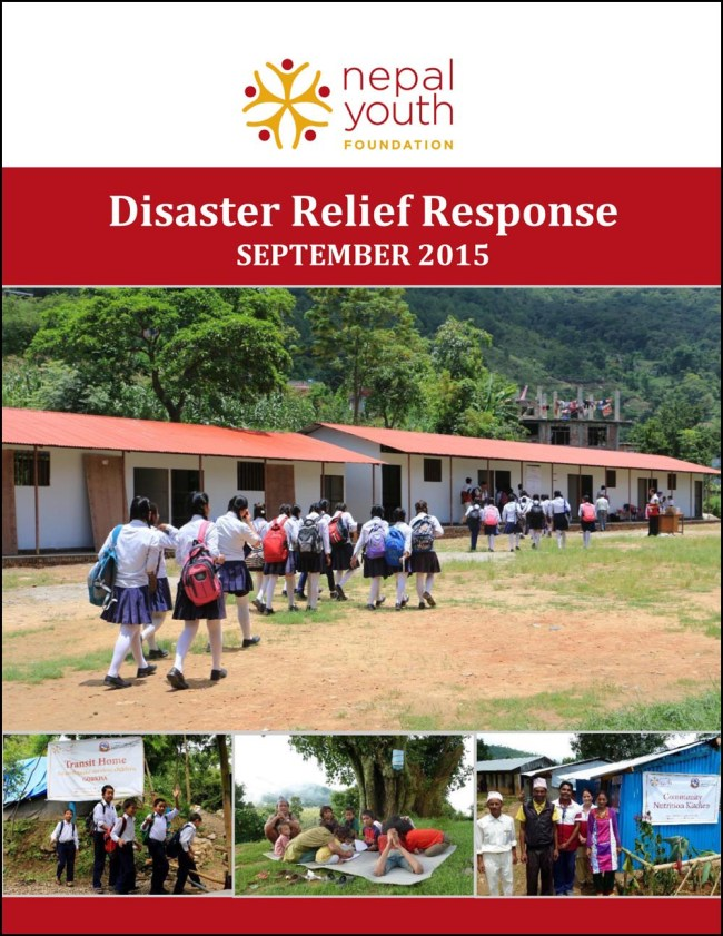 NYF Disaster Relief Response update as of September 2015