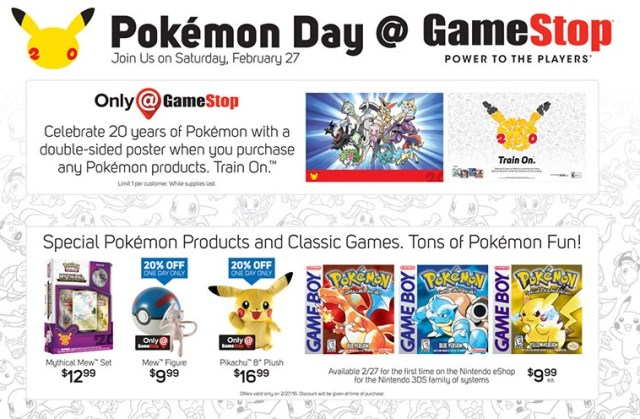pokemon day gamestop