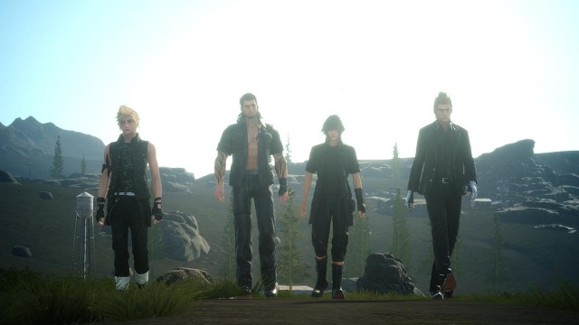 Final fantasy XV noctis and friends