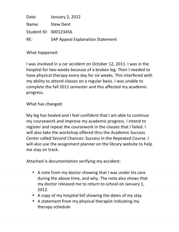 Satisfactory Academic Progress What It Is, How to Appeal Canceled - academic appeal letter