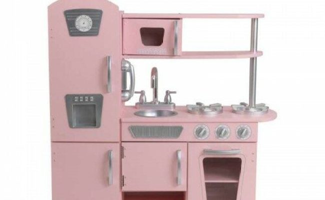 Vintage Wooden Play Kitchen Pink For Kids Children In S A