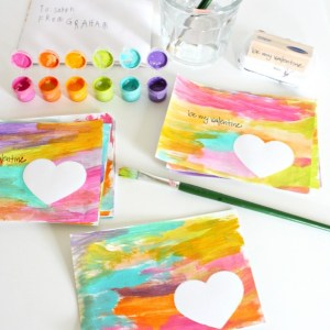 Watercolor Valentines via Nest of Posies
