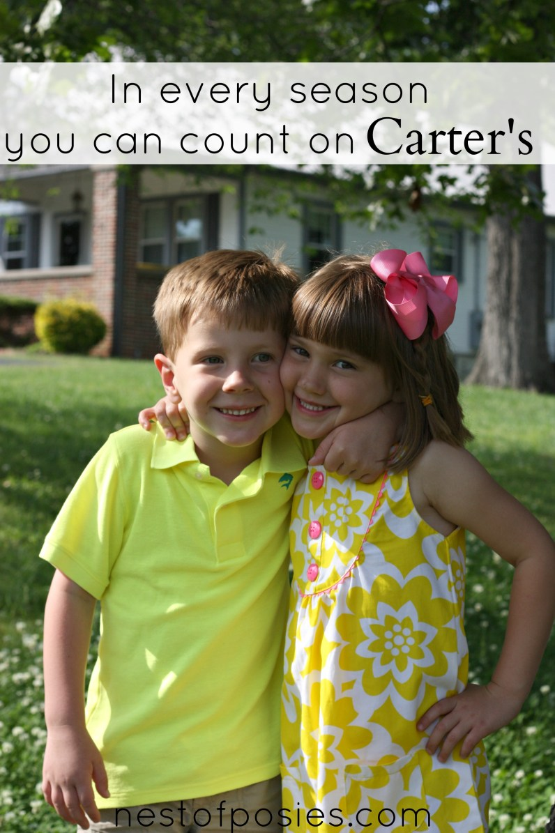 in every season you can count on Carter's
