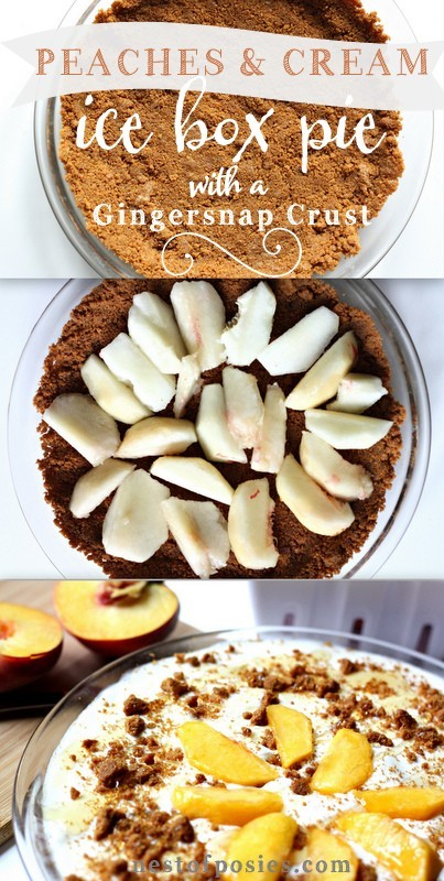 Peaches & Cream Ice Box Pie. So cool & so easy to make. Prep time is ...