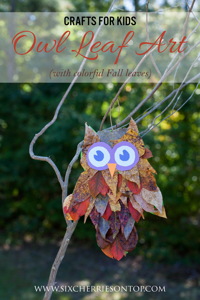 Kids Craft Idea Make a Owl Leaf