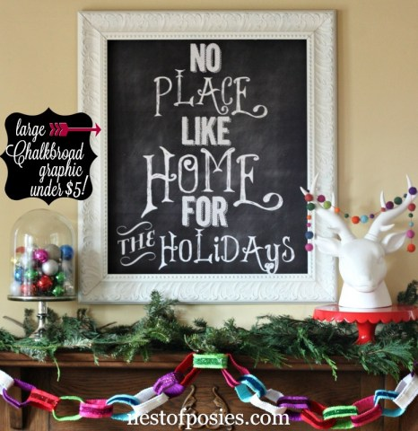 Make a Chalkboard Graphic for less than 5 dollars to use for your home decor