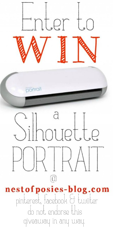 Enter to win a Silhouette Portrait Machine