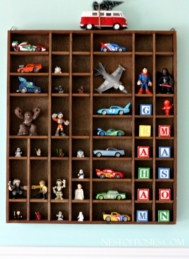 Printers tray for toy storage