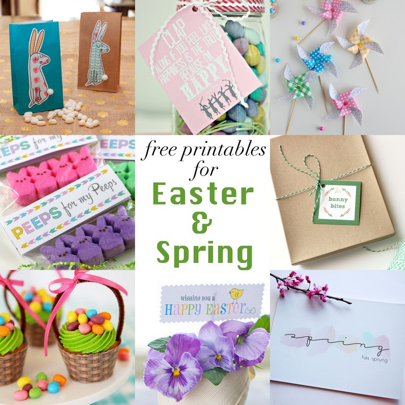 8 new free printables for Easter & Spring