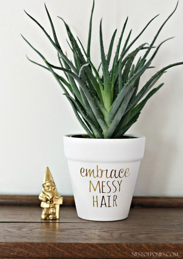 Embrace Messy Hair Plant Pot