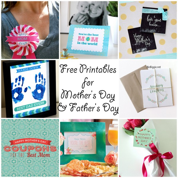 Free printables for Mother's Day and Father's Day   a bloghop