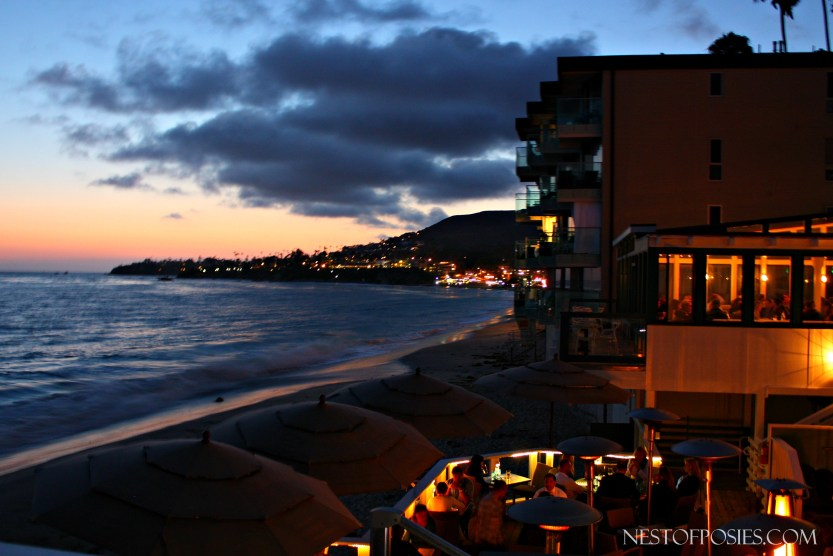 Sunset over the Pacific in Laguna Beach - Pacific Edge Hotel